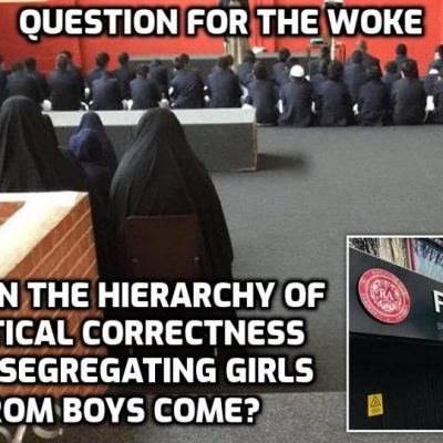 Islamic head teacher defends unlawful segregation of boys and girls saying it is in line with parents' beliefs after scathing Ofsted report for academy where schoolgirls were told: 'University is not for females'