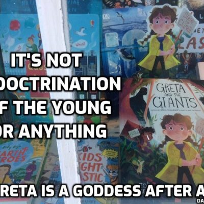 Greta and the giants - more propaganda to indoctrinate the young with the climate hoax