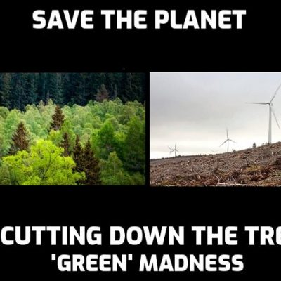 Scotland's Wind Industry Clear-Fells 17,283 Acres & Wipes Out 14,000,000 Trees To 'Save' Planet