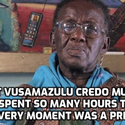The global treasure that is Vusamazulu Credo Mutwa has died aged 98. Thanks for everything, mate, until we meet again as we will. You did a FANTASTIC job in a FANTASTIC life - all my love to you
