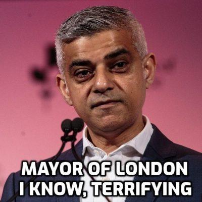 Fascist Moronic (I repeat myself) London Mayor Sadiq Khan Wants To Make It Illegal To Ride Trains Unmasked