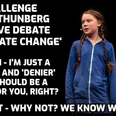 Yet another video to show that if you want to ask Greta Thunberg real questions - you can't. It's all a scam. WAKE-UP PEOPLE