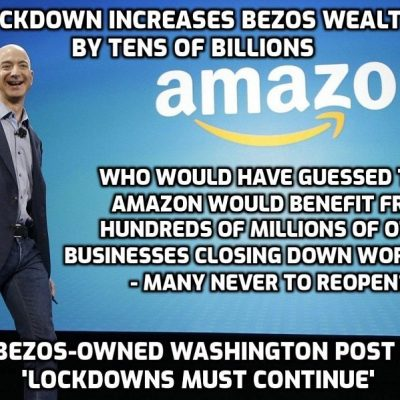 Jeff Bezos's Net Worth Has Increased by $24 Billion During the alleged 'Covid-19 Pandemic'