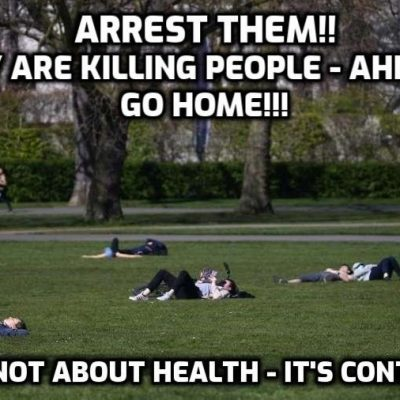Londoners bask in park sunshine despite Boris Johnson begging people to stay home during Covid-19 lockdown ... Oh so that's the story then and not billions under house arrest worldwide? Mainstream media? Bunch of hysteria-generating morons