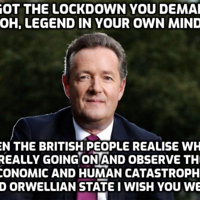 ITV warned against relying on 'combative dynamic' after Piers Morgan complaints - far more important was the narcissist's demand for lockdown from which he will never recover