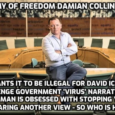 An extraordinary - and telling - example of 'virus fact-checking' by enemy of freedom MP Damian Collins and his 'Infotagion'. Pinch me. Ouch. My god it's true