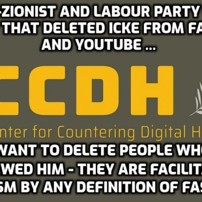 Ultra-Zionist and Labour Party dominated Center for Digital Hate (@ccdhate) behind Icke deletion by Facebook and YouTube now seeks to censor others as 'David Icke Collaborators' - and you just sit there mainstream media shaking in your boots. My God you're pathetic