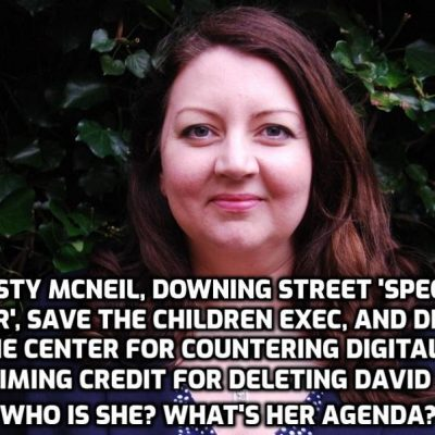 Icke-censor Kirsty McNeil of Labour-dominated Center for Countering Digital Hate sits on board with Gates Foundation strategist  Carolyn Esser of Gates-funded organisation pushing mass vaccination and silencing of 'anti-vaxxers'