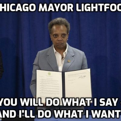 Chicago mayor Lori Lightfoot - one of the (endless) draconian faces of lockdown