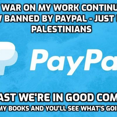 Terrified of David Icke - now banned by PayPal. All that elite 'power' and yet they are hysterically knicker-twisted worldwide over 'little me'. So where's the 'power', really? It's with us not them