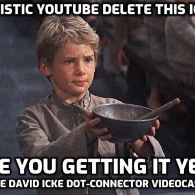 Now fascistic YouTube (Susan Wojcicki) delete this Icke 'virus' video they don't want you to see. Here's another version - please share with everyone you can