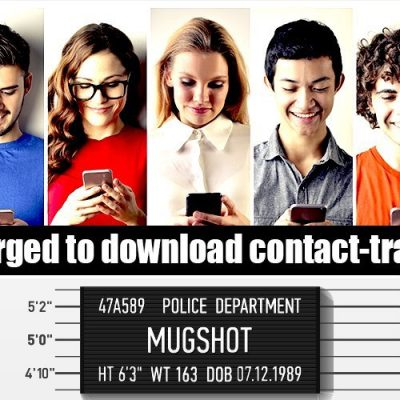 Public urged to download contact-tracing app in fight against 'Covid-19'. Yep, get yourself tracked - you know it makes sense