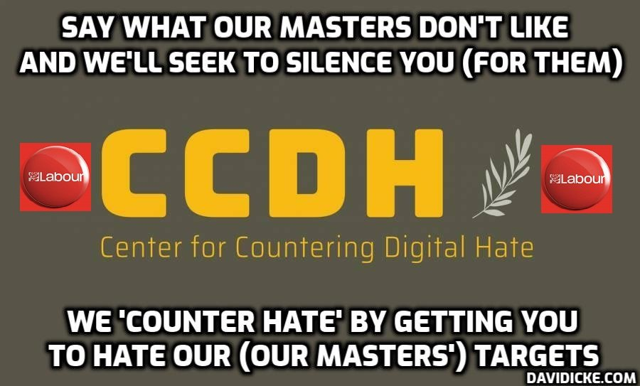Gareth Icke's Big Mouth Talks To Researcher Dino Wiand About The Transatlantic Labour Party-Connected Center For Countering Digital Hate And The Global Censorship Industry Funded by The One-Percent That Is Targeting David Icke
