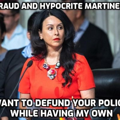 LA City Council President Nury Martinez calls for defunding the police while having her own police protection detail at taxpayers expense - they are laughing at you