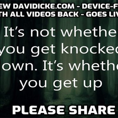 BRAND NEW DEVICE-FRIENDLY DAVIDICKE.COM HAS GONE LIVE TONIGHT WITH ALL THE VIDEOS BACK PLUS NEW ONES. PLEASE SHARE ...