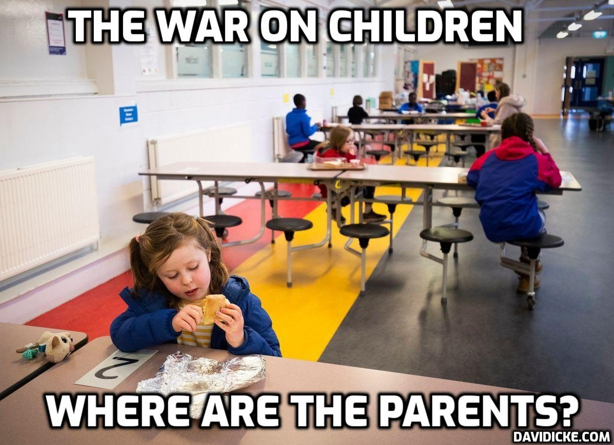 'Some of the youngest students returning to classes today in Anchorage will enter a dystopian classroom world, where they must kneel for hours on end on the floor while masked, and have no recess or art or physical expression' (preparing them for a lifetime of doing the same) – David Icke