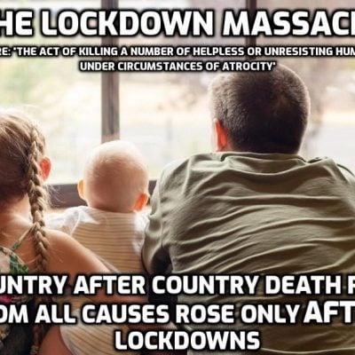 Lockdown leading to tens of thousands of cancer deaths alone - a fraction of what is to come. Lockdown was murder because the consequences were so easy to predict. I must have mentioned that the world is run by psychopaths