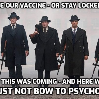 Anyone without a fake 'vaccine' that isn't a 'vaccine' could be BANNED from pubs, restaurants and even workplaces under radical new fascist plan that has been the goal from day one. How long are you going to take this shit from moronic people doing the bidding of psychopaths?? You take it - they'll go on giving it