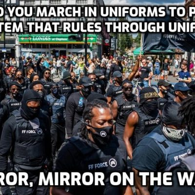 Marching for the One-percent that wants to create racial division all over the world for its own ends - and the marchers won't have a clue they are doing so