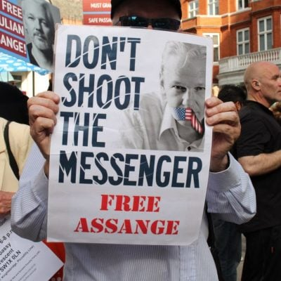 Marking Two Years Since Assange's Arrest, Press Freedom Advocates Demand Biden DOJ Drop All Charges