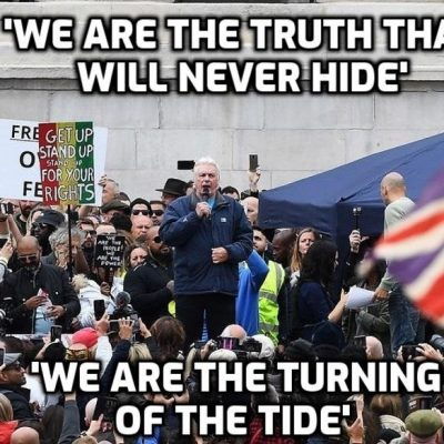 David Icke Speech, Trafalgar Square London 26th September, Freedom Rally