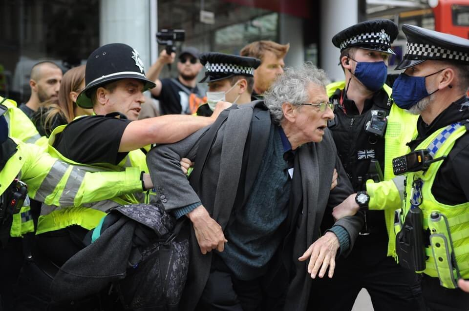 Piers Corbyn Violently & Unlawfully Arrested & Held Overnight In Sheffield Police Station - peaceful protest turned violent by police enforcing fascism