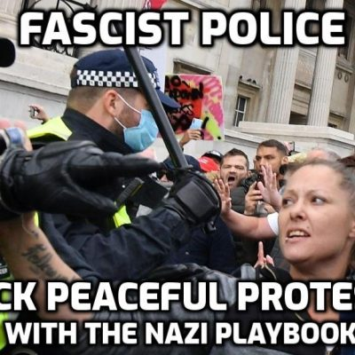 Johnson SS attack peaceful protesters - the 'new normal'