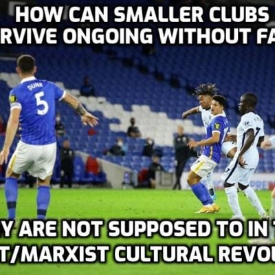 The end of football as we know it in the unfolding cultural revolution? Fans 'may not be able to return to sporting events until at least end of March' - how can smaller clubs survive?