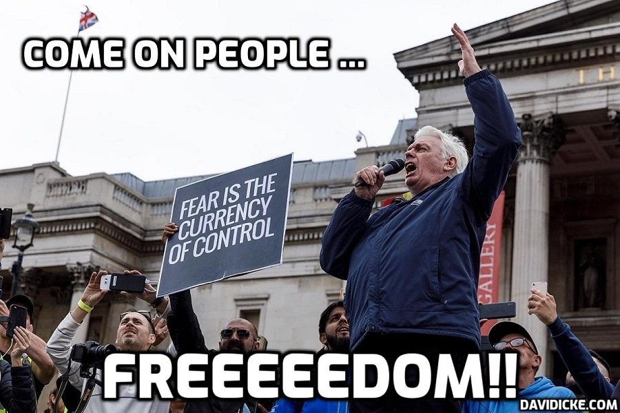 Great version of David Icke speech to 40,000-plus people in Trafalgar Square (Deleted by YouTube - here's another source please share)