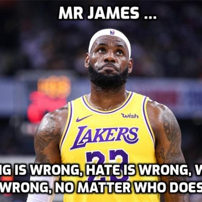 LeBron James silent over 'hunted' cops - the wrong kind of 'hunted', obviously