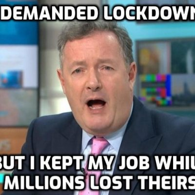 Piers Karen Morgan is the hypocrite of hypocrites with no self-awareness - but he's far from alone in the elite he represents. He's laughing at you as the elite is laughing at you
