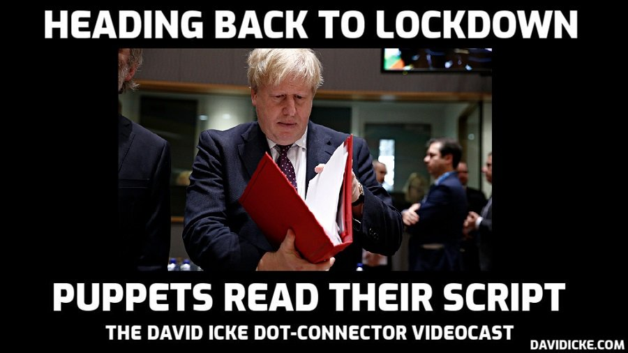 Heading Back Into Lockdown - The Puppets Read Their Script - David Icke Dot-Connector Videocast - Please Share To Defeat Censorship