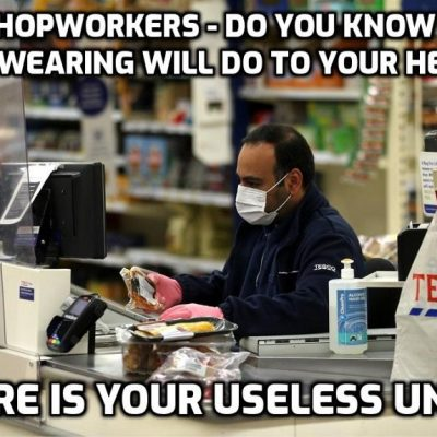 Retail workers forced to wear masks under fascistic 'virus' clampdown as the wear-masks-everywhere-at-all-times agenda that I have long predicted rolls on