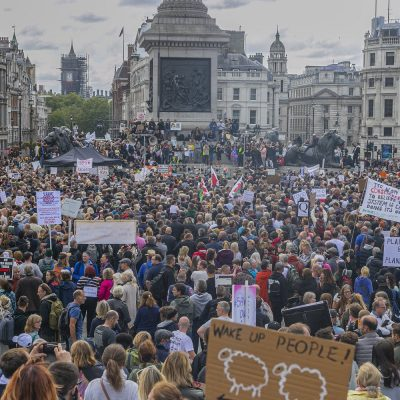 Live pictures from London Lockdown march