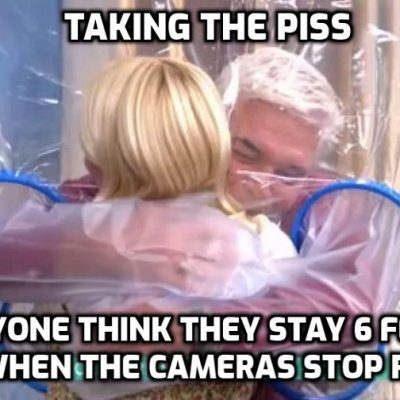 This Morning viewers moved to tears as Phillip Schofield and Holly Willoughby hug through plastic sheet