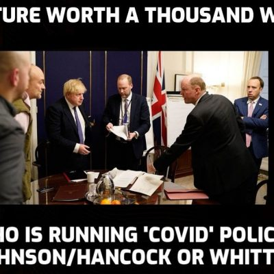 Johnson's running the government? Sure he is ... whenever Whitty says he can