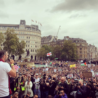Gareth Icke Speech Trafalgar Square 26th September, Starts at 53 minutes