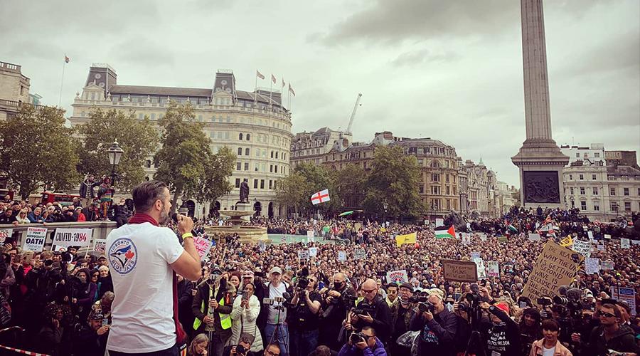 Gareth Icke Speech Trafalgar Square 26th September, Freedom Rally