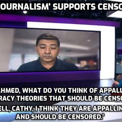 What a combination - Channel 4 News Woke censorship supporter Cathy Newman and serial censor Imran Ahmed - soft ball questions for system-serving answers. Pass the sick bag. Why won't you debate me, Ahmed? Rhetorical question of course