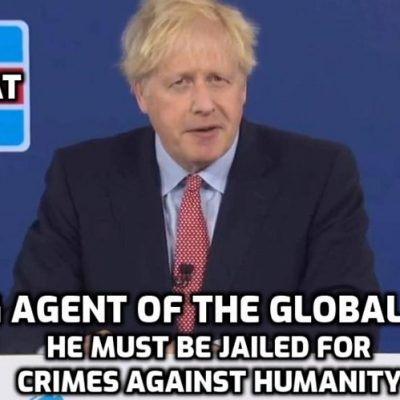 Führer Johnson outrageously lies about a 'plague' and promises a 'New Jerusalem' (The Great Reset) as he promotes the long-planned Global Cult agenda - this man must be jailed for crimes against humanity with the key thrown mid-Atlantic