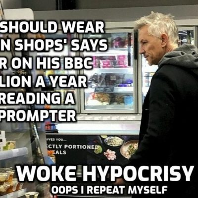 Hancock and Lineker - you slaves must wear a mask but we'll give it a miss