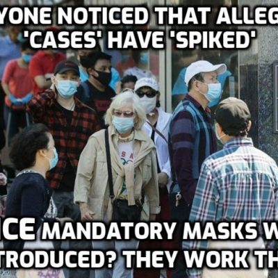 New York City imposes $1,000 fine for people who refuse to wear masks in public as 'cases rise' from a test not testing for the 'virus'