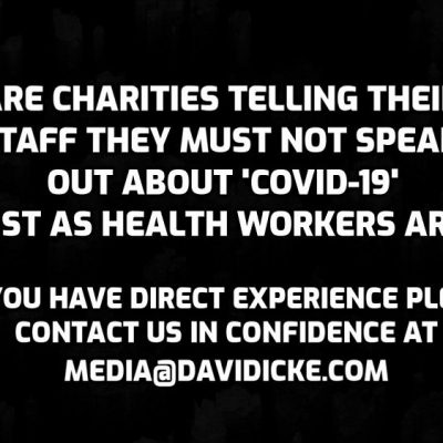 Question to charity workers - are you being silenced over 'Covid-19'? We are told that at least some of you are