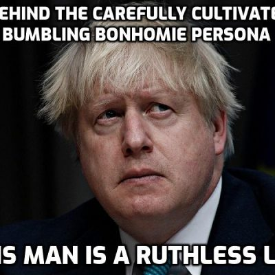 Jackboot Johnson's former Cabinet colleague: 'Johnson is … the most accomplished liar in public life – perhaps the best liar ever to serve as prime minister.' Understated, surely