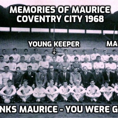 I just heard that Maurice Setters, former Manchester United and Coventry City footballer, has died. I played with him at Coventry many times. Great character, great bloke - have a wonderful forever, mate