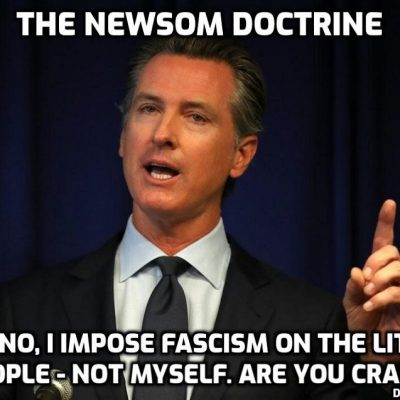 Californians with a brain in working order refuse to comply with latest lockdown by Cult-owned fascist hypocrite governor Newsom
