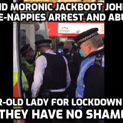 Absolute disgrace! Conservative MP's angry outburst after seeing 'elderly anti-lockdown' protester arrested by fascist police under the command of Jackboot Johnson. The response from the weak-as-water woman in the 'Speaker's' chair was equally pathetic