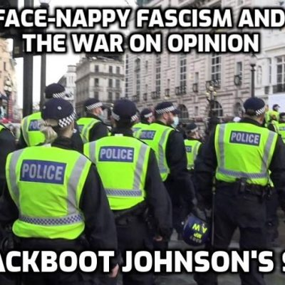 Fascist Metropolitan Police's war on opinions - a comparison between protests that show that we have political policing and political policing is fascism. The footage from 1.45 is disgusting