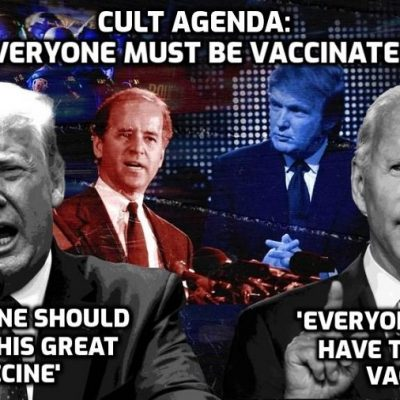 Trump talks the same lies and bollocks as Biden about the 'Covid' vaccine - it's a one-party state run by the Cult for which everyone being vaccinated worldwide is a foundation of its horrific agenda for humanity. Anyone who thinks Trump is a 'saviour' should watch this ...