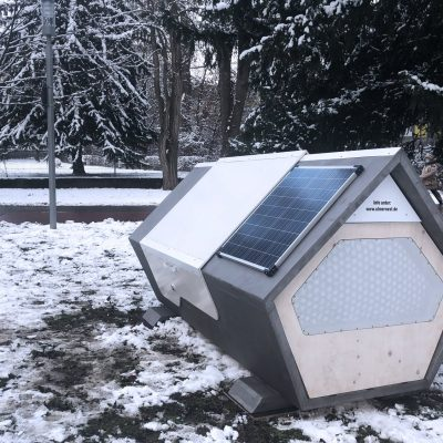 """Homeless In Germany Offered Futuristic """"Coffin-Like"""" Pods To Sleep In — Connected to Internet of Things"""